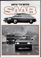 Saab 99 1978-79 UK Market Foldout Sales Brochure Turbo EMS GLE GL