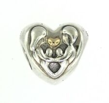 Authentic PANDORA Heart Of The Family Silver & Gold Retired Charm 791771