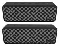 (2) Rockville Faze Black 50w Portable Bluetooth Speakers w/TWS Wireless Linking