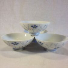 Japanese Hand Painted Sakura Floral Rice/Soup Bowls (set of 4)