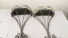 "Pair of Metal 16"" Wall Display Shelves"