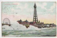 Blackpool, A Rough Sea, 1910 Tuck View Series Postcard, B381