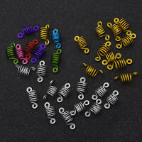 DIY Gold Silver Spiral Shape Hair Braid Dread Dreadlock Beads Cuffs Clips 10pcs