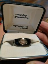 Harley Davidson rare men's black ring size 7 like new never worn titanium