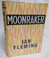 BOOK - James Bond 007 Moonraker By Ian Fleming 1965 HB W/ D/J Jonathan Cape