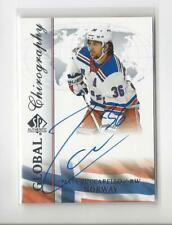 2017-18 SP Authentic Global Chirography Mats Zuccarello AUTOGRAPH Rangers Norway