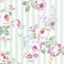 Cottage Shabby Chic Lecien Princess Rose Floral 31264L-90 w/Grey Stripes BTY