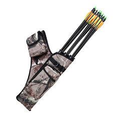 Outdoor Bow Bag Arrow Holder Adjustable Shoulder Strap 3-Tube Archery Quiver