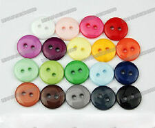 Lot of 570pcs assorted mixed 19color resin Sewing flatback Buttons 11.5mm 0.45in