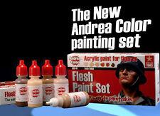 Andrea Miniatures Flesh Acrylic Paint Set 6 Bottles