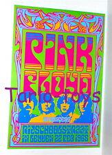 PINK FLOYD - Leuven , Belgium 22 febbraio 1968  poster concerto