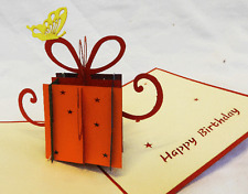 Hand Made Pop Up 3D Birthday Card - Something a bit Different.......... NEW (C)
