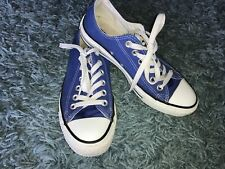 Size UK 4.5 EU 37 Converse Blue&White Canvas Trainers