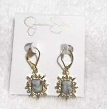 Gold Design Drop Earrings Jessica Simpson Turq and