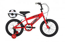 Bumper Goal 16 Red Kids Pavement Bike Football Theme plus Free Ball