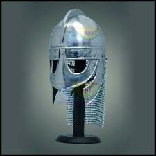 Viking Helmet with chainmail Medieval Norman Knight Battle Armor Costume Helmet