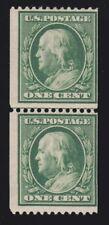 US 385 1c Franklin Mint Line Pair OG H w/ PSAG Cert SCV $450