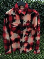 Supreme Bleached Buffalo Heavyweight Flannel FW13 Size Small Red