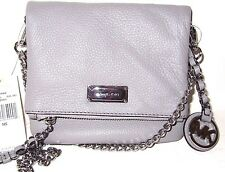 Michael Kors XS Extra Small Corinne Pearl Grey Leather Crossbody Bag NWT $198