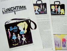 5p History Article + Color Pics -  VTG 1960s Barbie Lunch Boxes Totes Bottles