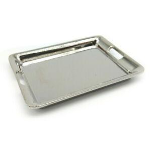 Dollhouse Kitchen Cookware Tray Salver 1:6 Miniature Accessories Silver