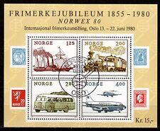 Norway - 1980 Stamp exposition Norwex / Transport - Mi. Bl. 3 VFU