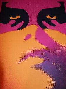 Shepard Fairey Poster Obey Shadowplay Orange 2019 Signed Silk Screen Print OBEY