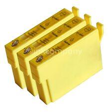 3 kompatible Tintenpatronen yellow für Drucker Epson SX435W SX130 SX125