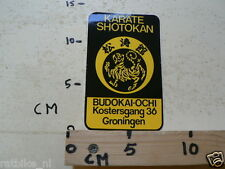 STICKER,DECAL KARATE SHOTOKAN BUDOKAI-OCHI KOSTERGAN GRONINGEN