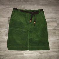 Tommy Hilfiger Corduroy Green Knee Length Skirt SZ 2