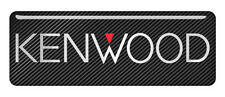 "Kenwood 2.75""x1"" Chrome Domed Case Badge / Sticker Logo"
