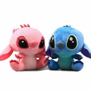 4'' Lilo and Stitch Plush Toy Hanging KeyChain Hanger Doll Pendant Kid Gift Cute