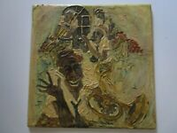 DEL FORSLOFF PAINTING ORIGINAL CHUNKY OIL JAZZ MUSICIANS NEW ORLEANS MODERNISM