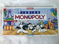 VINTAGE Waddingtons Junior Monopoly Board Game 1991 Parker - 100% Complete
