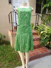 PIAZZA SEMPIONE ABSTRACT TYE DYE FLOWER PRINT CASUAL DRESS Sz M MADE IN ITALY