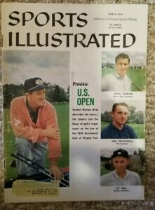 SPORTS ILLUSTRATED Magazine June 8, 1959 US Open Preview Art Wall Peter Thomson