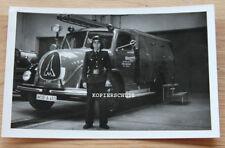 Altes Foto Feuerwehr Oldtimer Magirus Deutz / Wolsburg Volkswagenwerg VW (2)