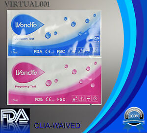 Authentic WONDFO 50 ovulation and 20 pregnancy (50 LH+20 HCG) test strips