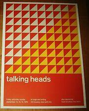 TALKING HEADS ROCK CONCERT POSTER SWISS PUNK GRAPHIC POP ART CBGB OMFUG 10X14