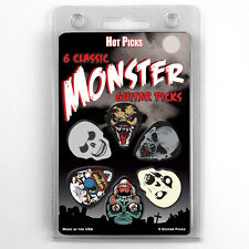 Hot Picks 6 pack Monster guitar picks Assorted 1MPRCS Skull Demon Skeleton SET