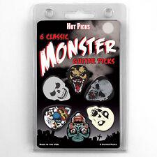 Hot Picks 6 pack Monster guitar picks Assorted 1MPRCS Skull Demon Skeleton SET