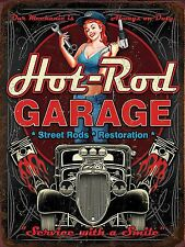 Hot Rod Garage Metal Sign Man Cave Garage Shed Funny Gift workshop Mechanic