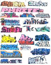 HO COLORFUL GRAFFITI DECALS ASSORTMENT 65  FREE SHIPPING DOMESTIC