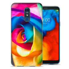 For LG Stylo 4 Rainbow Rose Design TPU Gel Phone Case Cover
