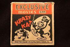 Krazy Kat 16mm 100' Metal Reel Copyright 1913 circa 1930's NICE