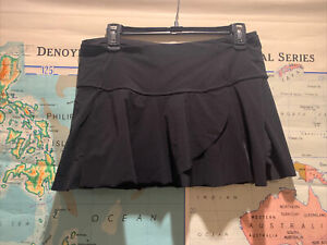 Women's Lululemon Hit Your Stride Skirt - Black - Reflective Detail - Size 8
