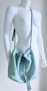 Kate Spade Leather Crossbody Cooper Bucket Bag Handbag Tiffany Blue $300 READ