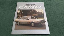 1984 1985 TOYOTA CAMRY 1.8 GL / 2.0 GLi / TURBO D UK FOLDER BROCHURE L&S Copcutt