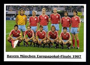 FC Bayern München Mannschaftskarte Europapokal-Finale 1987