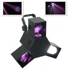 8 KANAL DMX DISCO PARTY  SHOW TRIPLE LED LICHT EFFEKT 3 FACH LASER SCANNER RGB